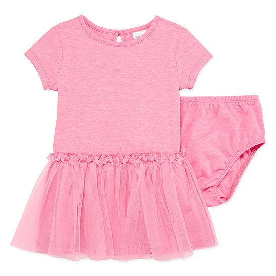 Okie Dokie Short Sleeve Tutu Dress Baby Girls