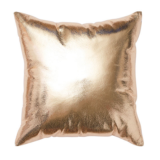 Frank And Lulu Magical Metallic Decorative Square Throw Pillow