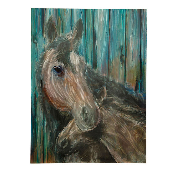 "Stylecraft Momma And Foal 40"" W Canvas Art"