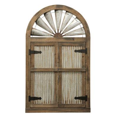 """Stylecraft 31.5"""" W Wooden Doors Wall Sculpture"""