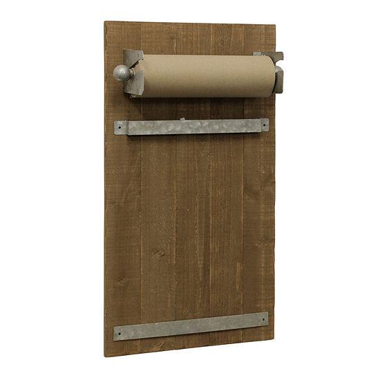 "Stylecraft 15.5"" W Wooden Scroll Holder Message Board"