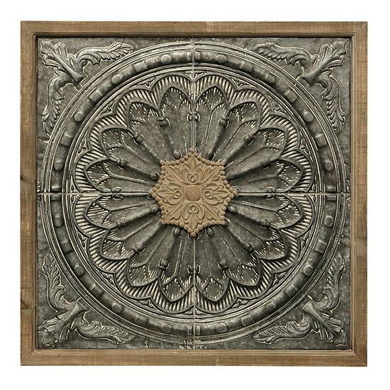 "Stylecraft 34.67"" W Floral Floral Metal Wall Art"