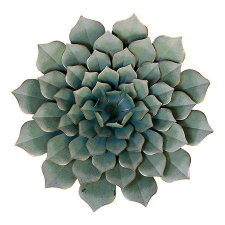 Stylecraft 23.6″ W Green Floral Metal Wall Art