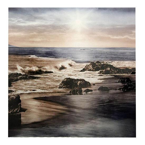 """Stylecraft Sunset On The Sea 40"""" W Canvas Art"""