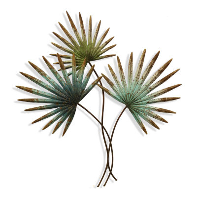 "Stylecraft Palm Leaves 29.5"" W Floral Wall Sculpture"