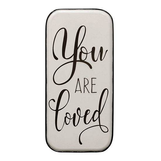 """Stylecraft """"You Are Loved"""" 32.28"""" W Inspirational Metal Wall Art"""