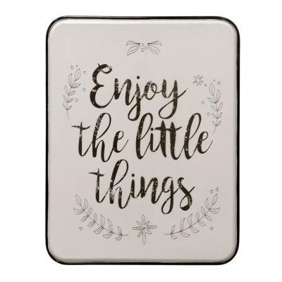 "Stylecraft ""Enjoy The Little Things"" 26"" W Inspirational Metal Wall Art"