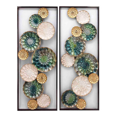 """Stylecraft Wreathed Composition Ii 13.8"""" W 2-pc. Canvas Art"""