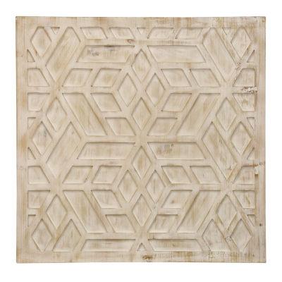 """Stylecraft 28"""" W Wooden Geomectric Canvas Art"""
