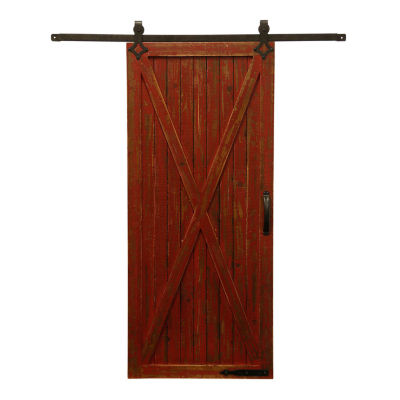 "Stylecraft 46"" W Rustic Barn Door Canvas Art"
