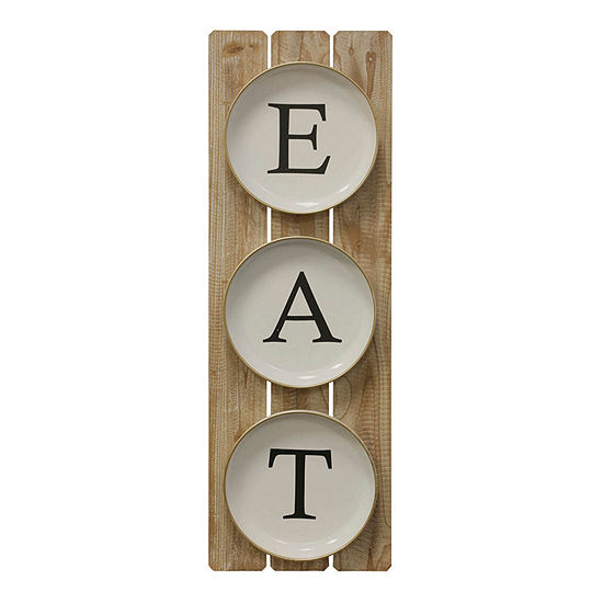 "Stylecraft 11.8"" W E A T Plates Wall Sign"
