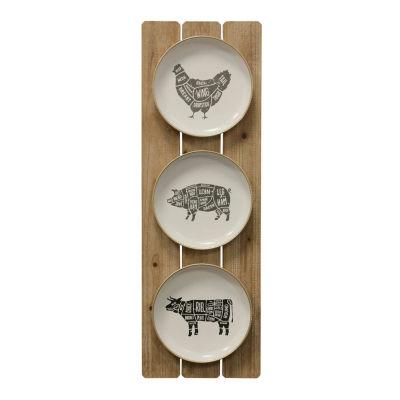 "Stylecraft 11.8"" W Farm Animals Canvas Art"