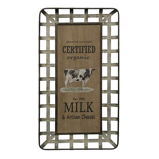 "Stylecraft 21.9"" Milk And Cheese Farmhouse Wall Art"