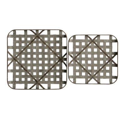 "Stylecraft 23.62"" W Grid Trays 2-pc. Canvas Art"