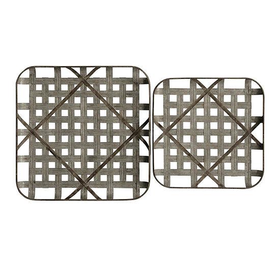 "Stylecraft 23.62"" W Grid Trays 2-pc. Canvas Art"