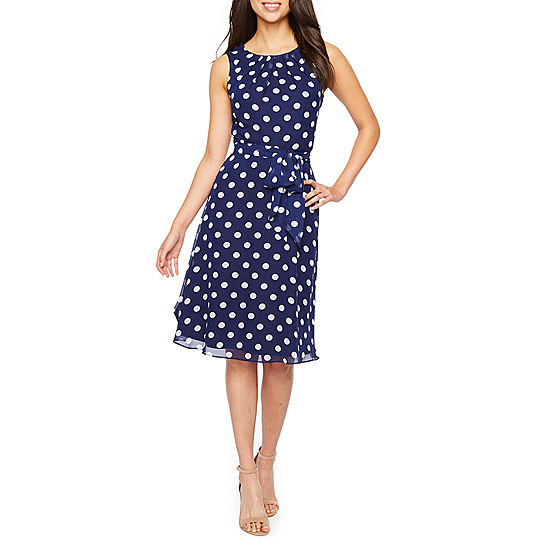 b774eb249276 Jessica Howard Sleeveless Dots Fit & Flare Dress - JCPenney