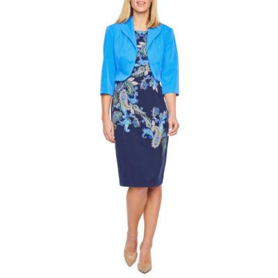 Maya Brooke Sleeveless Jacket Dress