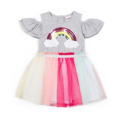 Little Lass Short Sleeve Tutu Dress Girls