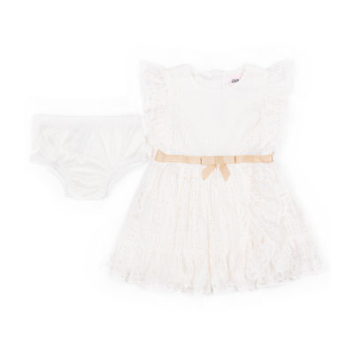 Little Lass Short Sleeve Babydoll Dress - Baby Girls