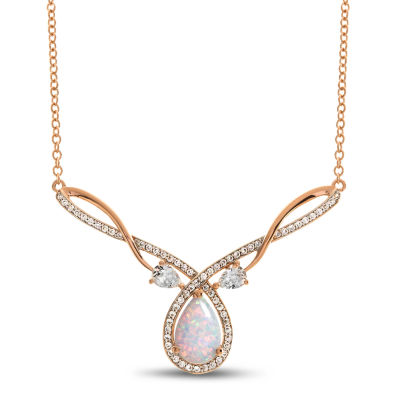 14K Rose Gold Over Silver 17 Inch Solid Link Chain Necklace