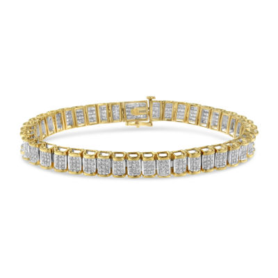 5 CT. T.W. Genuine White Diamond 14K Gold 7 Inch Tennis Bracelet