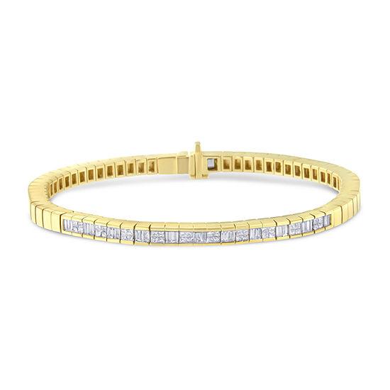 1 1/6 CT. T.W.  Genuine White Diamond 14K Gold 7 Inch Tennis Bracelet