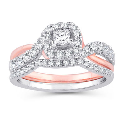 Womens 1 CT. T.W. White Diamond 10K Gold 10K Rose Gold Engagement Ring