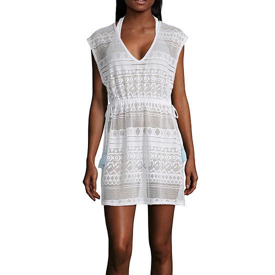 Miken Crochet Swimsuit Cover-Up Dress-Juniors