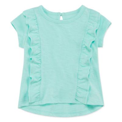 Okie Dokie Girls Crew Neck Short Sleeve T-Shirt
