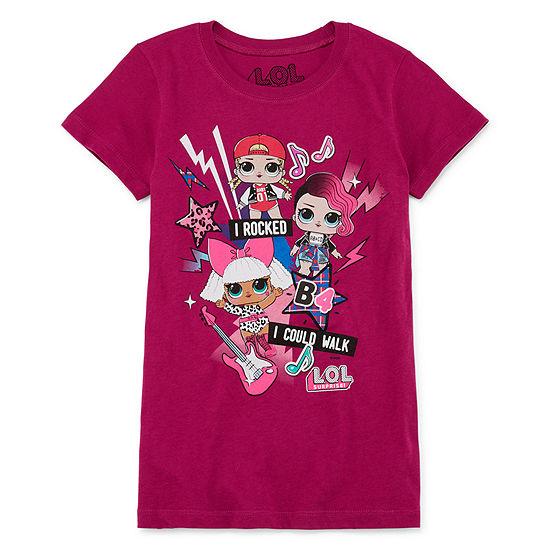 LOL Surprise! Girls Crew Neck Short Sleeve Graphic T-Shirt Preschool / Big Kid