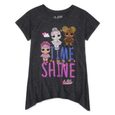 Lol Girls Crew Neck Short Sleeve Graphic T-Shirt Preschool / Big Kid