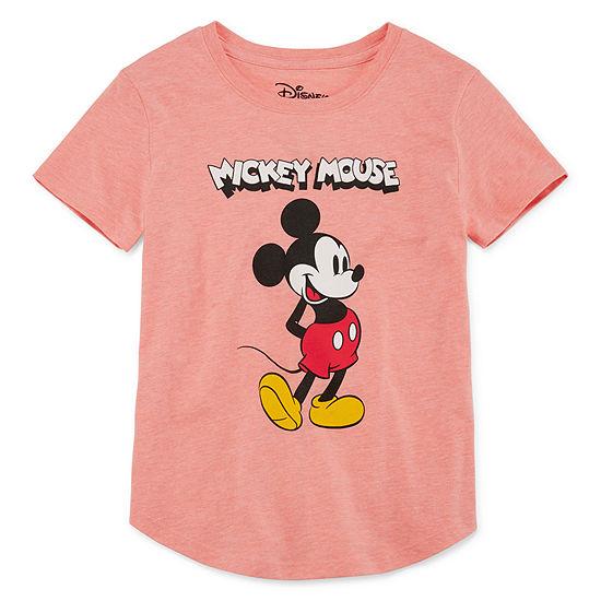 Disney - Little Kid / Big Kid Girls Crew Neck Short Sleeve Graphic T-Shirt