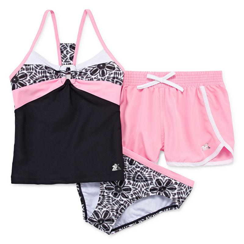 f9b521b8f2575 Zeroxposur Girls Tankini Set - Big Kid, Size Large (14), Pink