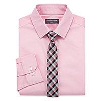 2e99a0fd015548 Van Heusen Boys Point Collar Long Sleeve Shirt + Tie Set Preschool   Big Kid  Husky