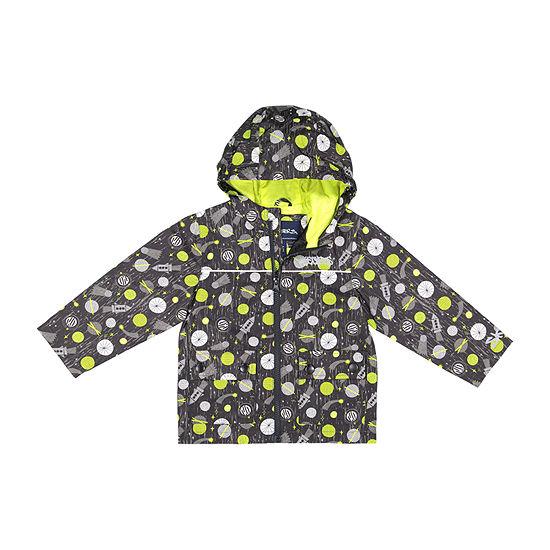 Skechers Boys Water Resistant Lightweight Raincoat-Big Kid