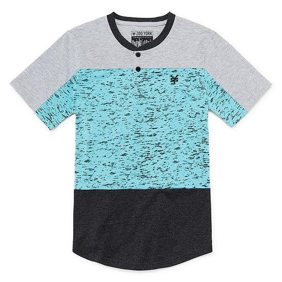 Zoo York Boys Henley Neck Short Sleeve T-Shirt-Big Kid