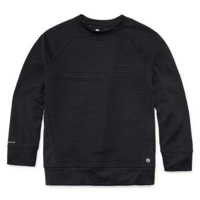 Xersion Long Sleeve Crew Neck T-Shirt Boys