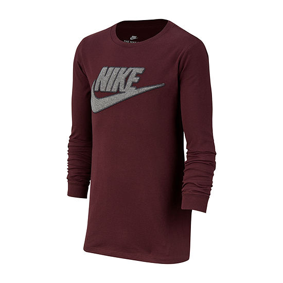 395d272c Nike Boys Crew Neck Long Sleeve Graphic T-Shirt-Big Kid - JCPenney