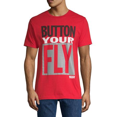 Levi's Men's Crew Neck Short Sleeve T-Shirt, Large , Red