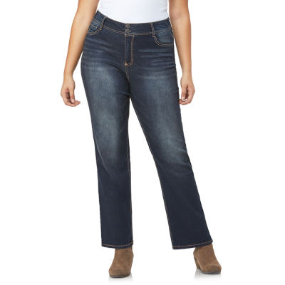 Wallflower Womens Mid Rise Curvy Fit Bootcut Jean-Juniors