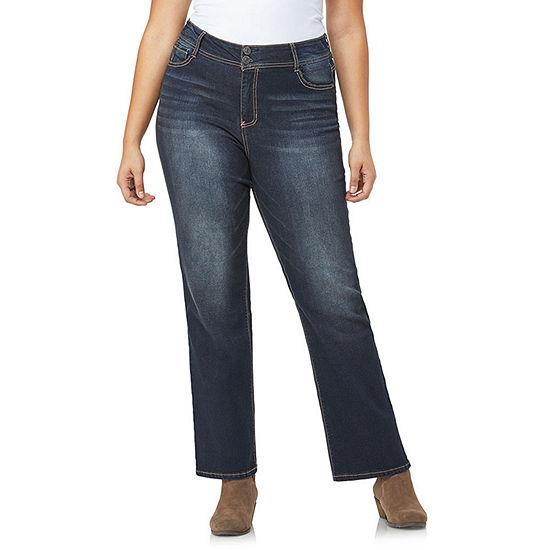Wallflower Womens Mid Rise Curvy Fit Bootcut Jean-Juniors
