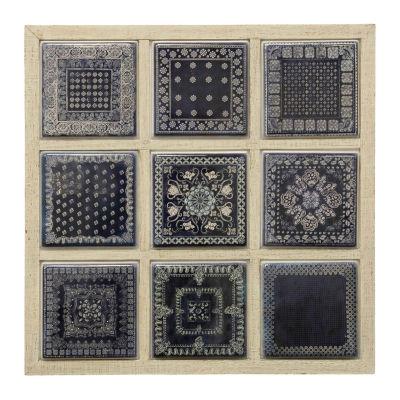 "Stylecraft 28.1"" W Blue Geometric Metal Wall Art"