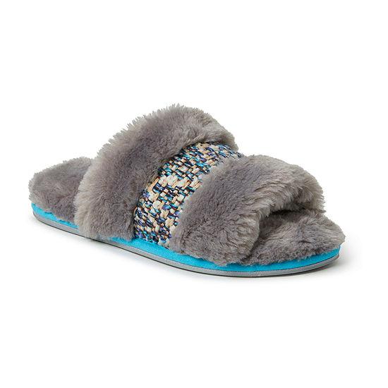 Dearfoams Plush Slide Slip-On Slippers