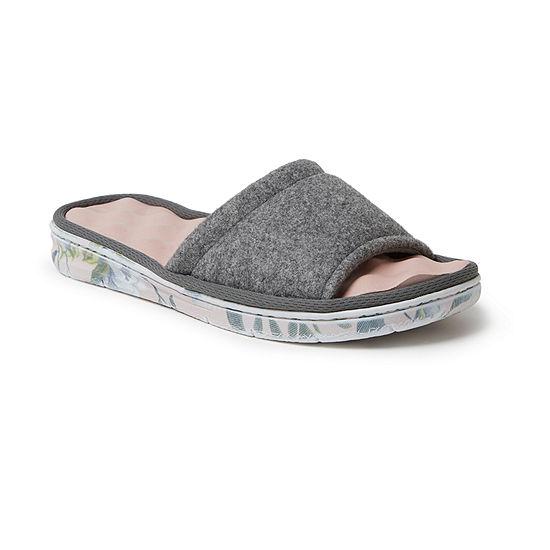 Dearfoams Wool Inspired Slide Womens Slip-On Slippers