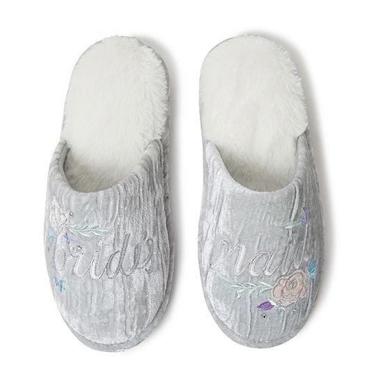 Dearfoams Bridal Scuff Womens Slip-On Slippers