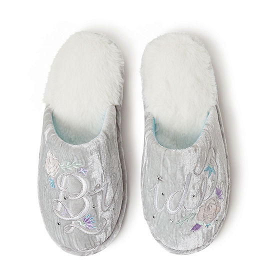 Dearfoams Bridal Scuff Womens Slip-On Slippers