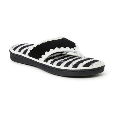 Dearfoams Terry Thong With Trim Slip-On Slippers