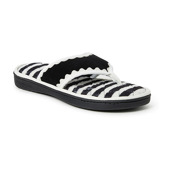 8c4c33e68162a Dearfoams Terry Thong With Trim Slip-On Slippers - JCPenney