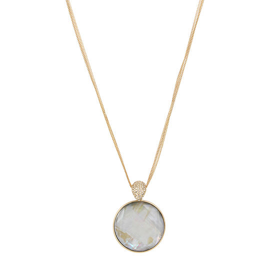 Worthington 18 Inch Curb Pendant Necklace