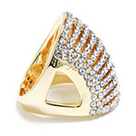 Sparkle Allure 14K Gold Over Brass Cubic Zirconia Cocktail Ring